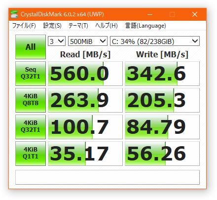 Crystal Disk Mark Intel 545s